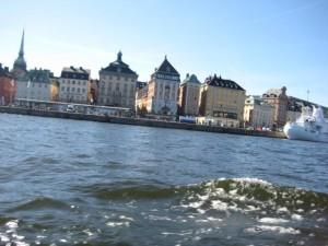 Stockholm vanaf een boot gezien